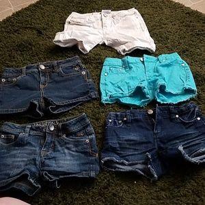 Girls Jean shorts bundle